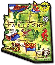 Arizona Artwood State Magnet Collectible Souvenir by Classic Magnets