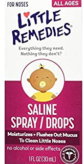 Little Remedies Noses Saline Spray Drops, 1 Fl Oz (Pack of 1)