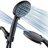 AquaCare AS-SEEN-ON-TV High Pressure 8-mode Handheld Shower Head - Antimicrobial Nozzles, Built-in...