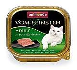 animonda Vom Feinsten Adult Katzenfutter, Nassfutter für ausgewachsene Katzen, mit Pute + Kaninchen, 32 x 100 g
