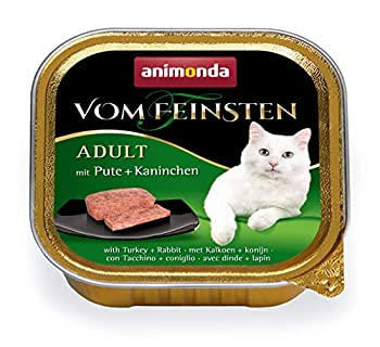 Nourriture pour chat Vom Feinsten Adult d'animonda, nourriture humide pour chat adulte, mélange création volaille, 32 x 100g