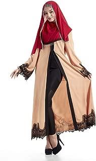 Palalibin Women Dress,Elegant Vintage Abaya Dress Cardigan Robe Turkish Hijab Cute Prayer Clothing