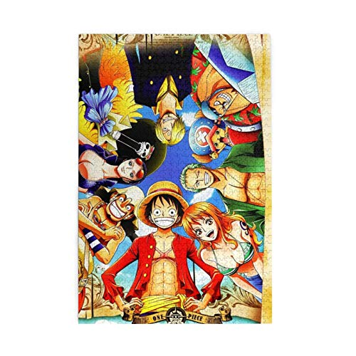 ONE Piece Puzzles, 1000 Pieces (Vertical) Wooden Puzzles, Fun Puzzles, and Decompression Puzzles.