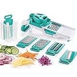 Berela - Rallador de Cocina Plegable 6 en 1 Multifunción, Rallador Slicer...