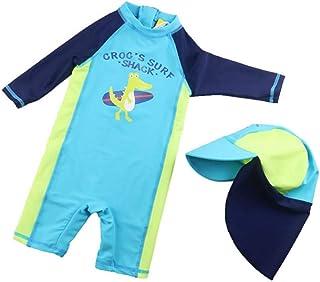 水着 男の子 ワンピース水着 ベビーガード 半袖 セット 帽子 キッズ ベビー服 ラッシュ ジュニア 子供 かっこいい かわいい 海水パンツ 紫外線カット スイムウェア スイミング カジュアル 夏 S-2XL