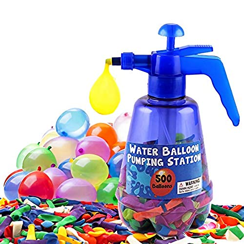 Liberty Imports Water Balloon Pumping Station with 500 Water Balloons