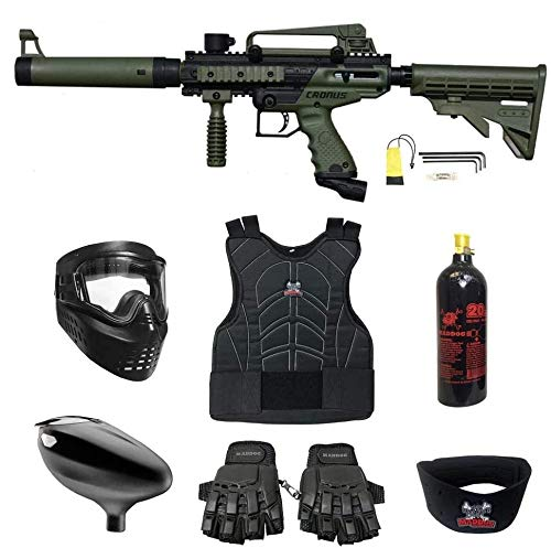Maddog Tippmann Cronus Beginner Protective CO2 Paintball Gun Package -...