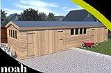 Garaje, caseta, taller para el jardín de madera muy resistente, de 6 x 3...