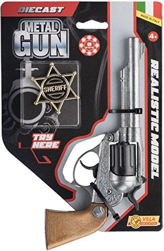 Villa Giocattoli-61592 Pistola in Metallo Alabama Try Me, Colore Grigio Anticato, 61592