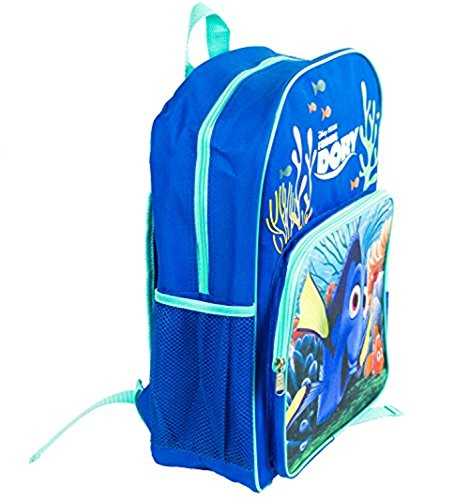Finding Dory 16' Backpack with 1 large lower Front Pocket & 2 mesh side pockets