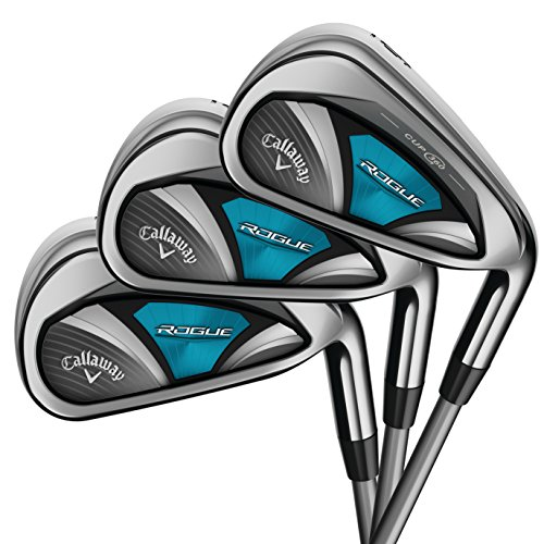 Callaway Golf 2018 Women's Rogue Irons Set (Set of 8 Total Clubs: 4-PW, SW, Left Hand, Synergy, Ladies Flex)