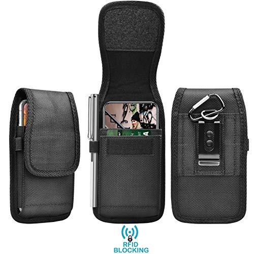 Eutekcoo 6.7' Fondina per Telefono Universale per iPhone PRO 11 Max XR x 8 7 6 / Sony Xperia 5 1 xz Premio f8331 l3 / Nokia 1 / Google Pixel 3 3a XL/Moto e6 g7 g6 Nero