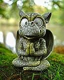 Udo Schmidt GmbH & Co. KG - Figura Decorativa para jardín (led, diseño de dragón con Ojos solares, 16 cm)