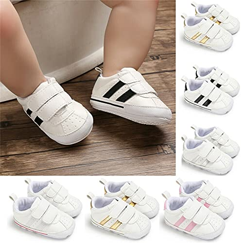 Soft Sole Prewalker Sneakers Baby Crib Shoes 0-18 Month (Boys & Girls)