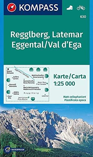 Regglberg - Latemar - Eggental /Val d'Ega: Wanderkarte mit Radtouren. GPS-genau. 1:25000 (KOMPASS-Wanderkarten, Band 630)