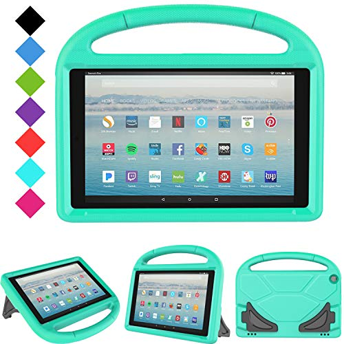 Fire HD 10 2019/2017 Tablet Case - TIRIN Light Weight Shock Proof Handle Stand Kids Friendly Case for Amazon Fire HD 10.1 Inch Tablet (9th/7th Generation, 2019/2017 Release), Turquoise