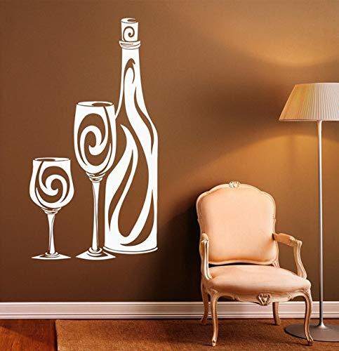 xingbu Baustelle Wandaufkleber Büro Wandaufkleber Weinflaschenmuster Glas Haushaltswaren Wein SA 42X77Cm