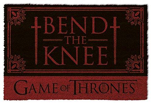 1art1 Game of Thrones Door Mat | Design Floor Mat - Bend The Knee (24 x 16 inches)