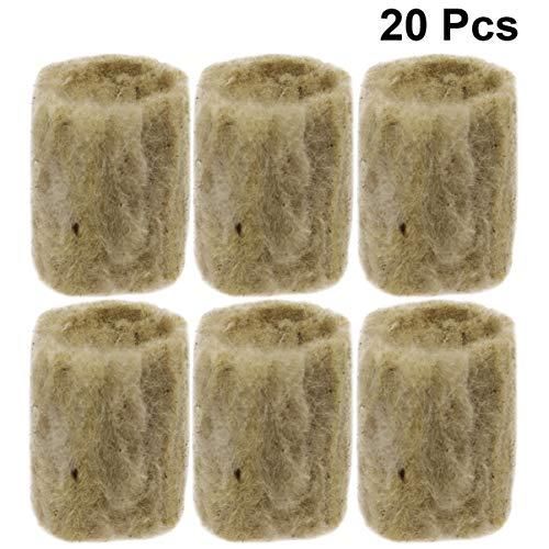 Yardwe 20Pcs Steinwolle Starterstopfen 20X27mm für Stecklinge Klonen Pflanzenvermehrung Hydroponisches Saatgut Start Liefert Pflanzenwachstum