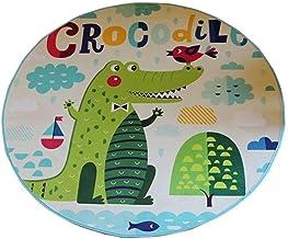 Carpet Cartoon Printing Round Carpet Living Room Bedroom Study pad Coffee Table Blanket Children Crawling mat (Size : 80cm)