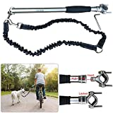Bike Dog Leash Attachment Quick Release Bicycle Dog Exerciser Leash 550-lbs Pull Strength for 15KG to 70KG Dogs (Heavy Duty Leash)