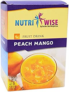 NutriWise - High Protein Diet Drink | Peach Mango | Low Calorie, Low Fat, 7/Box