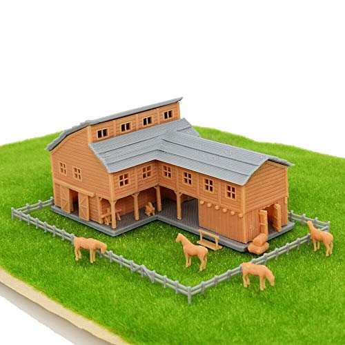 Outland Models Railroad Scenery Country L-Shape Barn House w Accessories Gauge Z …