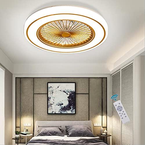 WJCJ Ventilador De Techo LED Iluminación Regulable Ventilador De Techo Invisible Lámpara Luz De Techo del Ventilador De Bajo Ruido Adecuado para Sala De Estar Dormitorio Habitación Infantil