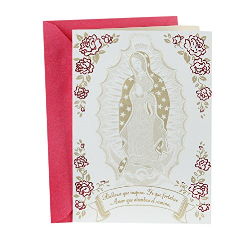Hallmark VIDA Religious Spanish Mothers Day Card for Mom (Guadalupe and Flowers) (0499MBC9815)
