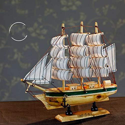 ZHEBEI Conjunto de Modelo de Barco de Regla de Madera Modelo de Barco Modelo de Barco de Vela de Madera Conjunto de Modelo de velero