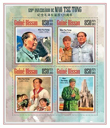 ギニアビサウ『毛沢東生誕120周年』4枚シート