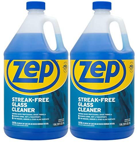 Zep Streak-Free Glass Cleaner 128 Ounce ZU1120128 (2-Pack) Pro Strength