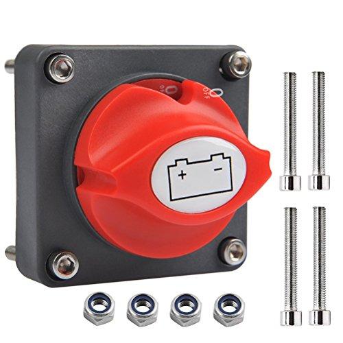 OFNMY Batterie Trennschalter Hauptschalter 12V / 24V batterietrennschalter 300A Ein/Aus Batterieschalter für Boots, Auto
