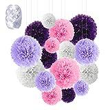 Flores de Pompones, Speyang Pompones de Papel de Seda, Flores Papel...