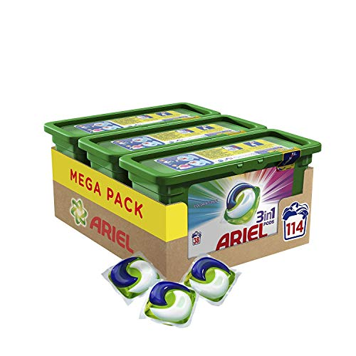 Ariel All-in-1 PODS Color kleurbescherming 3-in-1 oordopjes 114 Waschladungen Coouleur