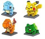 Loz Regalos Figura De Dibujos Animados Juguetes para Pokemon Diamond Building Block Set-Niños Tienen? (4 Carácter Nano Mini Figura)