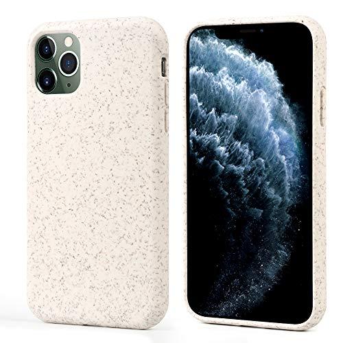 Migeec Funda para iPhone 11 Pro, 100% compostable y Biodegradable, respetuosa con el Medio Ambiente, Hecha de Plantas, Funda Protectora Delgada para iPhone 11 Pro, Color Amarillo