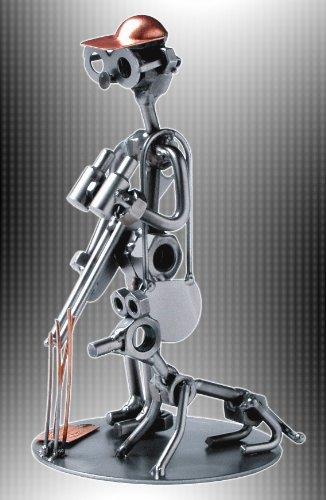 Boystoys HK Design - Schraubenmännchen Jagd Jäger & Hund - Metall Art Geschenkideen Deko Skulptur Hobby & Freizeit - hochwertige Original Figuren handgefertigt
