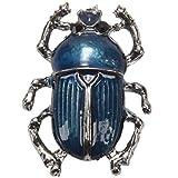TOOGOO Blu Insetti Spille Oro Colore Teflon Spilla Pins Vintage Donna Cappelli Sciarpa Clip Gioielli Bijoux