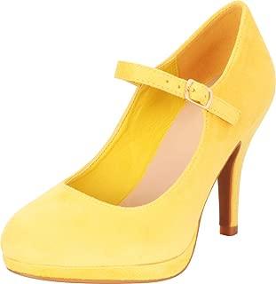 Cambridge Select Women's Mary Jane Buckle Strap Dress Cushioned High Heel Pump