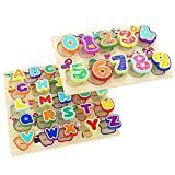 TOP BRIGHT Wooden Puzzles Alphabet Educational Toys for 1 Year Old...