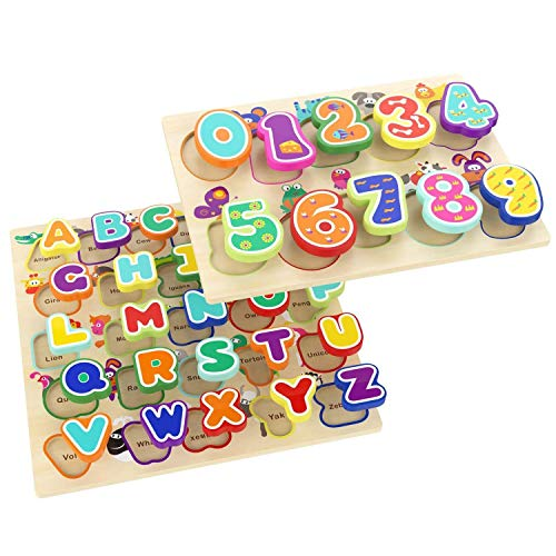TOP BRIGHT Wooden Puzzles Alphabet...