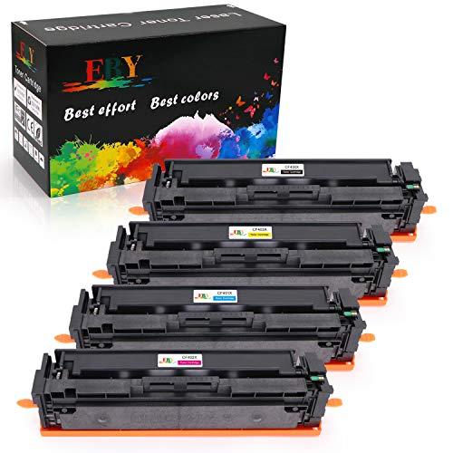 EBY Cartucho de tóner HP 201X 201A CF400X CF400A CF401X CF402X CF403X Compatible para Laserjet Pro MFP M277dw M277n M252dw M252n M274n M274dw