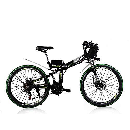 GTYW, Bici Elettrica, Pieghevole, City, Mountain Bike, Ciclomotore Adulto, 48v, Batteria Al Litio, 26 Pollici, 24 Pollici, Auto Batteria