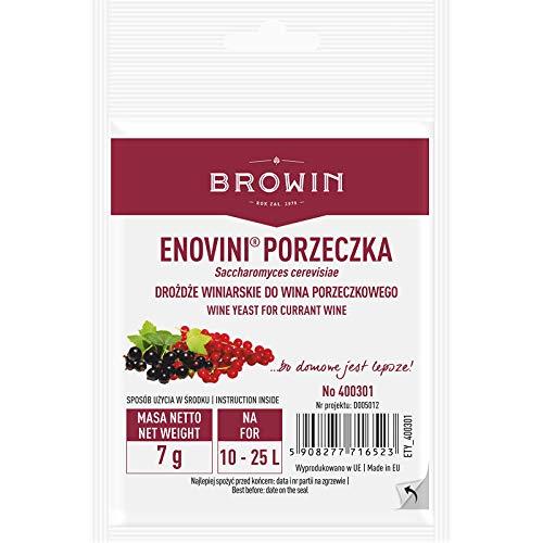 Wijngist voor bes 7g voor 25L ENOVINI Browin – Actieve Gedroogde Wijn maken Gist | Premium