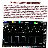 Osciloscopio digital FNIRSI 1013D 2 canales 1 GS/S LCD Pantalla táctil Tableta Osciloscopio 100MHz Herramienta de diagnóstico negro