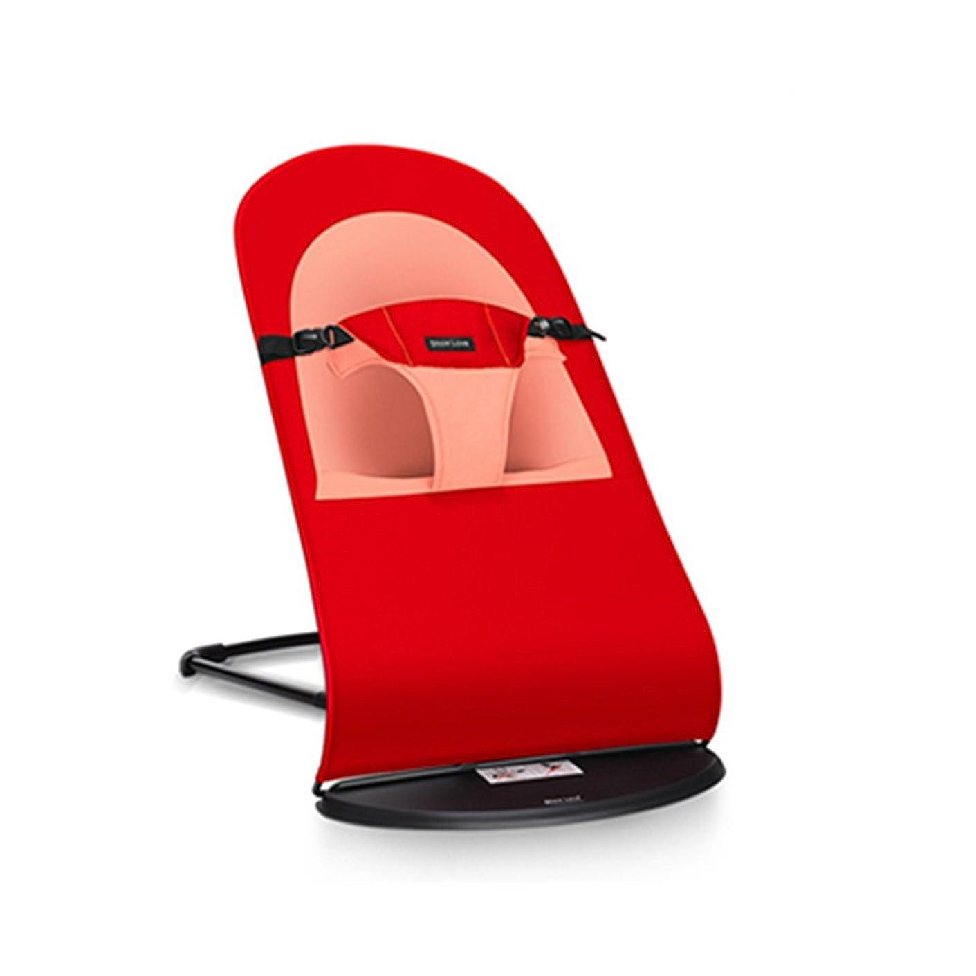 ゲージ刈る避難AVGe キッズチェア ベビーチェアー  木製 学習椅子 高さ調節可能 かわいい (レッド)