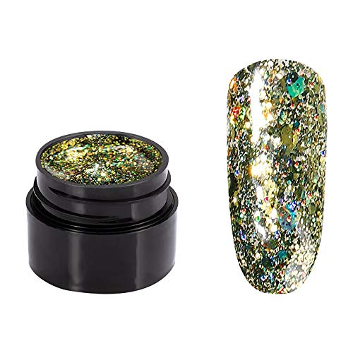 5ml UV Glänzend Gel Nagellack Gellack, Mehrfarbig UV-Semi Permanentes LED-Lampe Gel Lack Farbe Nagellack (G)