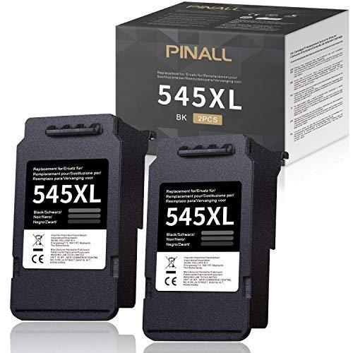 PINALL Cartuchos de Tinta Canon PG-545XL 545XL compatibles para Canon PIXMA MX495 MIP2850 MG2550 MG2550S MG3050 MG2950 MG3051 MG3052 MG3053 TS205 TS3150 TS305 TS3151 G2450 Impresoras (2 Negro)
