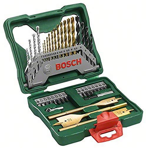 Bosch Home and Garden 2607019600 40-Piece X-Line Accessory Set, Black/Gold/Silver